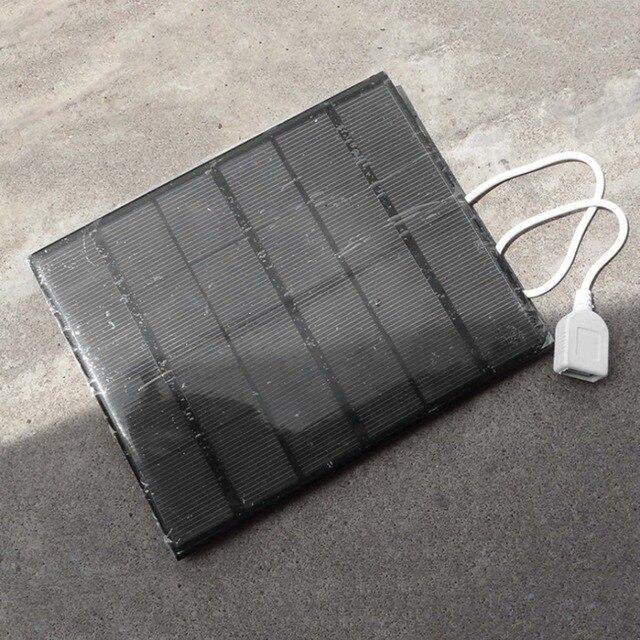 DIY USB Panel Năng Lượng Mặt Trời Ngân Hàng Điện Bên Ngoài Pin Sạc Ngoài Trời Đi Du Lịch TỰ LÀM Sạc Cho Điện Thoại Di Động Máy Tính Bảng 3.5 W 6 V