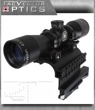 Vector Optics Tsyklon 4×32 Compact Shooting Riflescope with AK 47 / 74 QD Side Rail Mount , 1 inch Ring , SVD Reticle 2 in 1