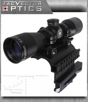 Vector Optics Tsyklon 4x32 Compact Shooting Riflescope with AK 47 / 74 QD Side Rail Mount , 1 inch Ring , SVD Reticle 2 in 1