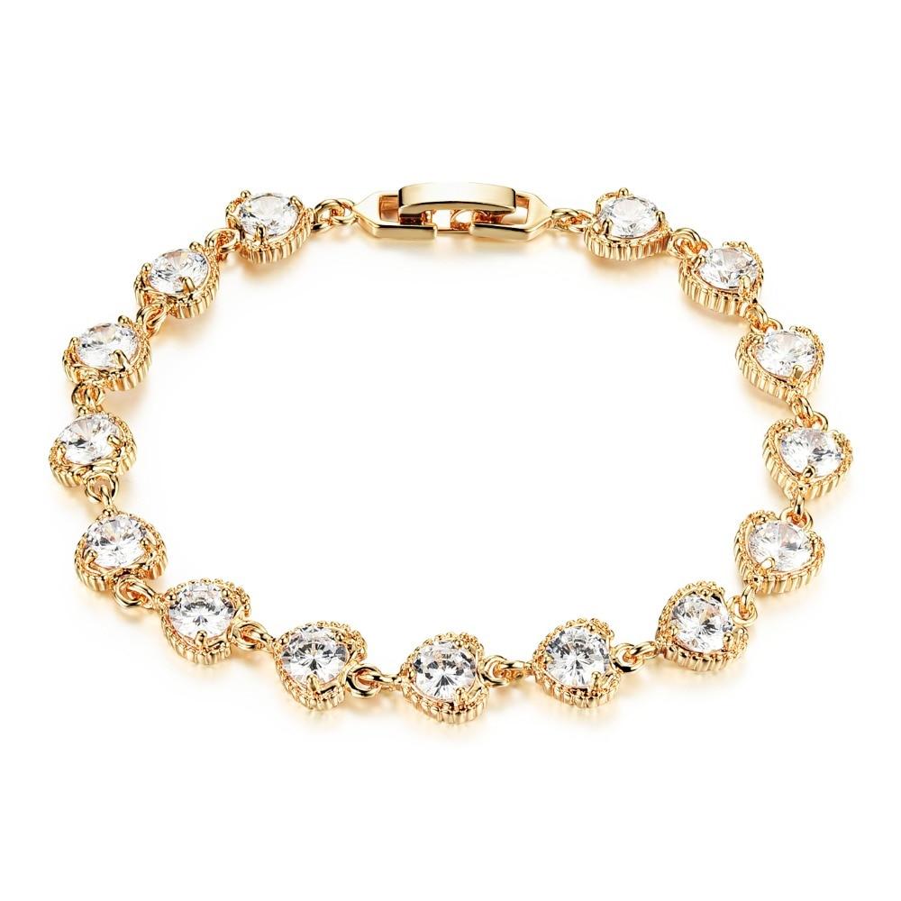 Micro Inlay Zircon Wedding Party Jewelry Stone Copper Couple Copper Cubic  Zirconia Ankle Bangle Bracelet(