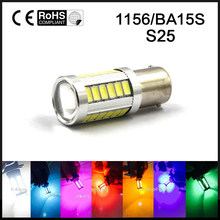 1piece 1156 BA15S P21W 33 led 5630 5730 smd Car Tail Bulb Brake Lights auto Reverse Lamp Daytime Running Light red white yellow(China)