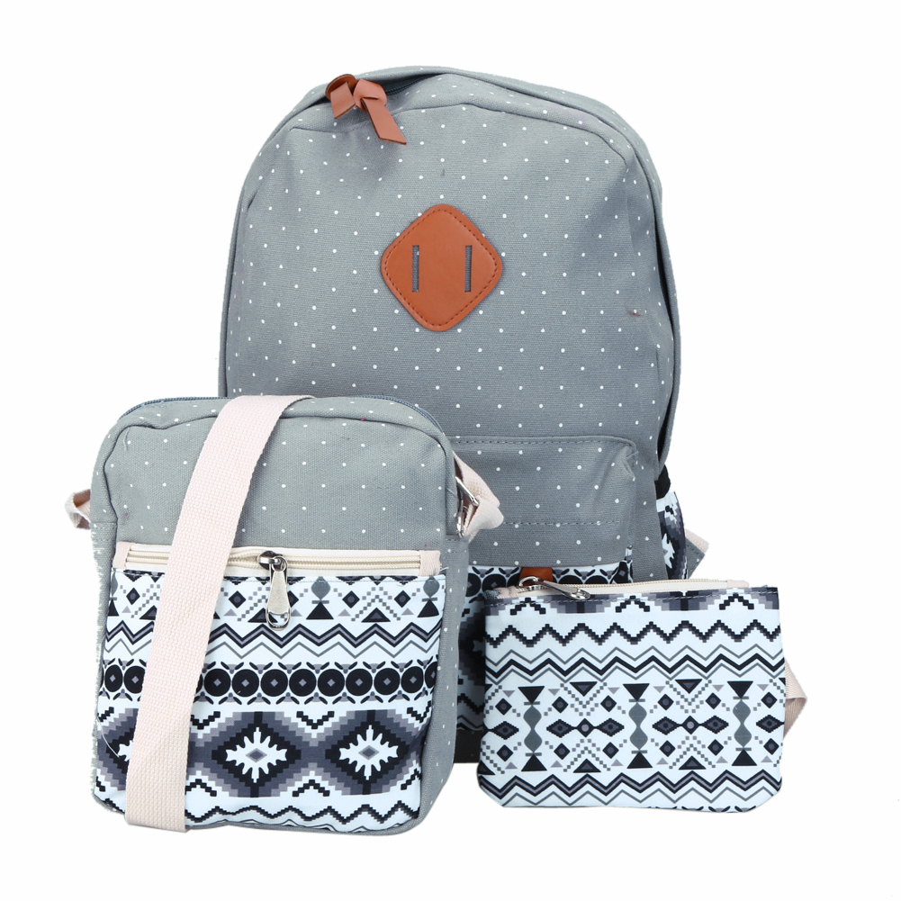 Backpacking Backpack Set Canvas Printing Backpack Women Cute Lightweight Bookbags Middle High School Bags for Teenage Girls tourit 2016 new canvas printing backpack women school bags for teenage girls cute bookbags vintage laptop backpacks female