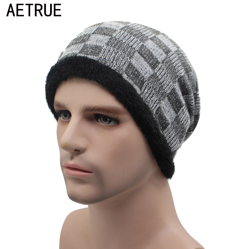 AETRUE Winter Beanie Hat Men Winter Hats For Men Women Bonnet Caps Warm Baggy Mask Brand Cap Skullies Beanies Mens Knitted Hat 2017 winter women beanie skullies men hiphop hats knitted hat baggy crochet cap bonnets femme en laine homme gorros de lana