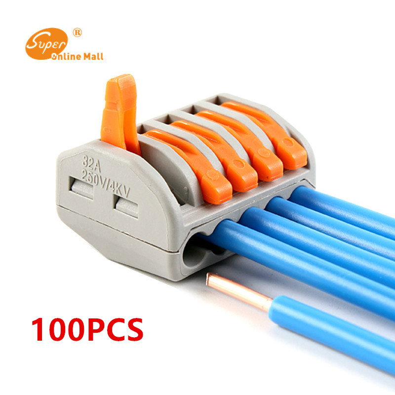 US $27.71 40% OFF|100pcs PCT K215 universal wire Connector Quick Connector on