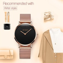 Women Watches Rose Gold Luxury Ladies Watch Ultra thin Wrist Watch Quartz Clock Woman Watch 2018 Milanese Steel relogio feminino