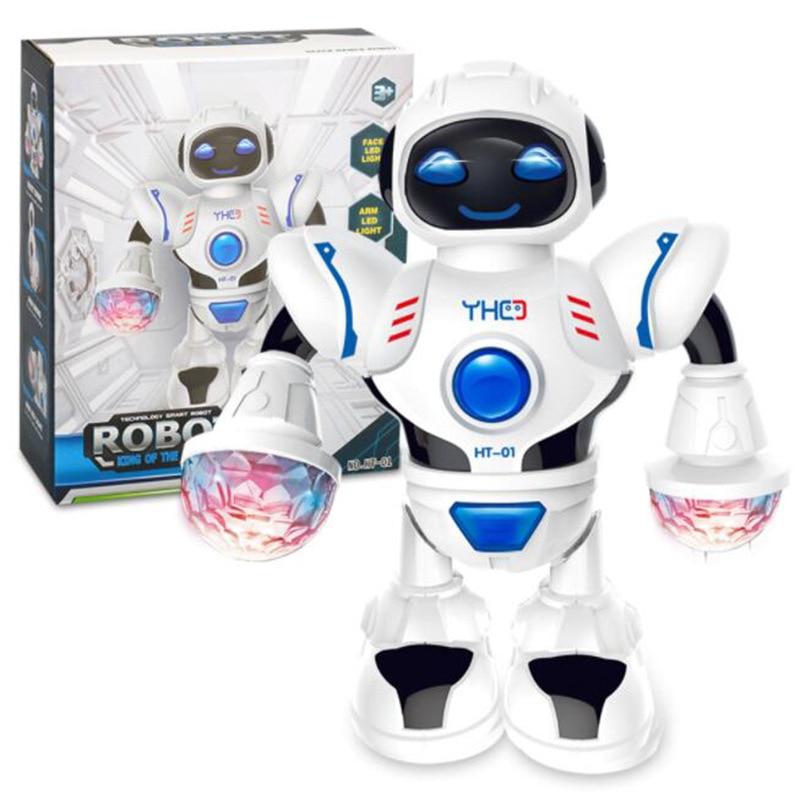 Jouet Robot humanoïde danseur spatial avec lumière enfants Pet Brinquedos électronique Jouets Electronique pour garçon enfants