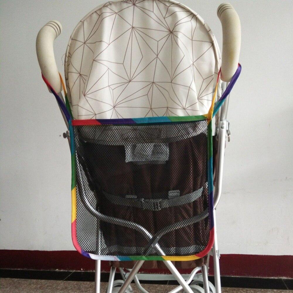 Kids Stroller Mesh Bag Milk/Water Bottle Diaper Storage Baby Stroller Carrying Mesh Bag BB Umbrella Car Accessory Storage Bag