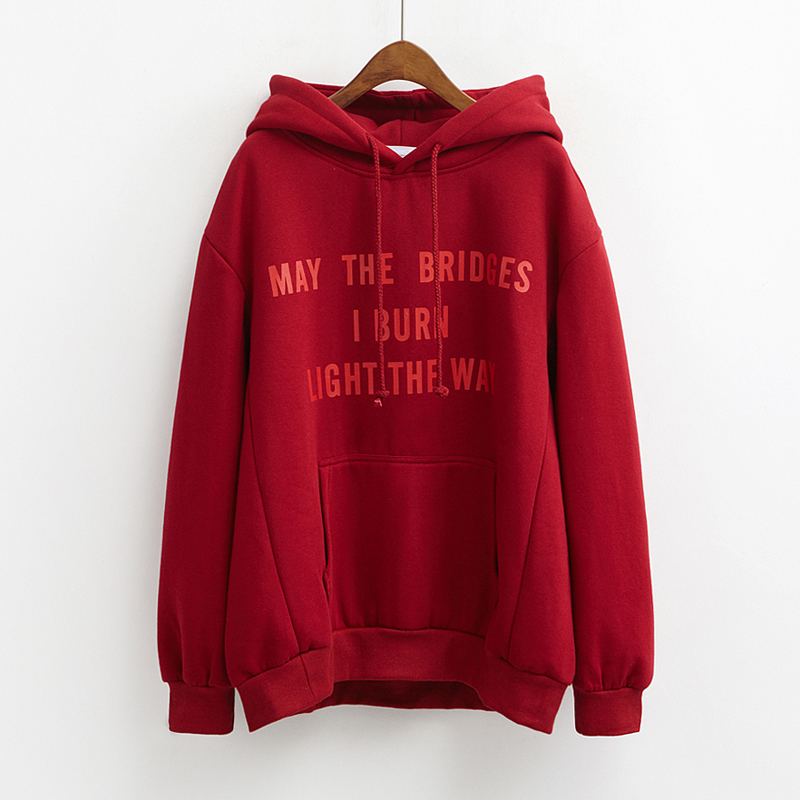 Fashion Pullover Vetements Hoodie Men Women Print Letters MAY THE BRIDGES I...