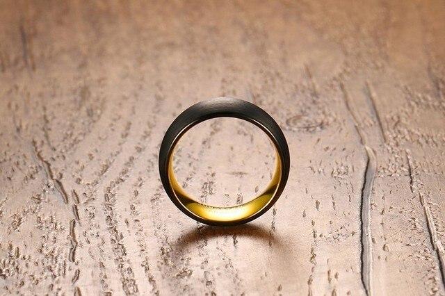 Мужское кольцо высокого качества модные черные кольца из карбида