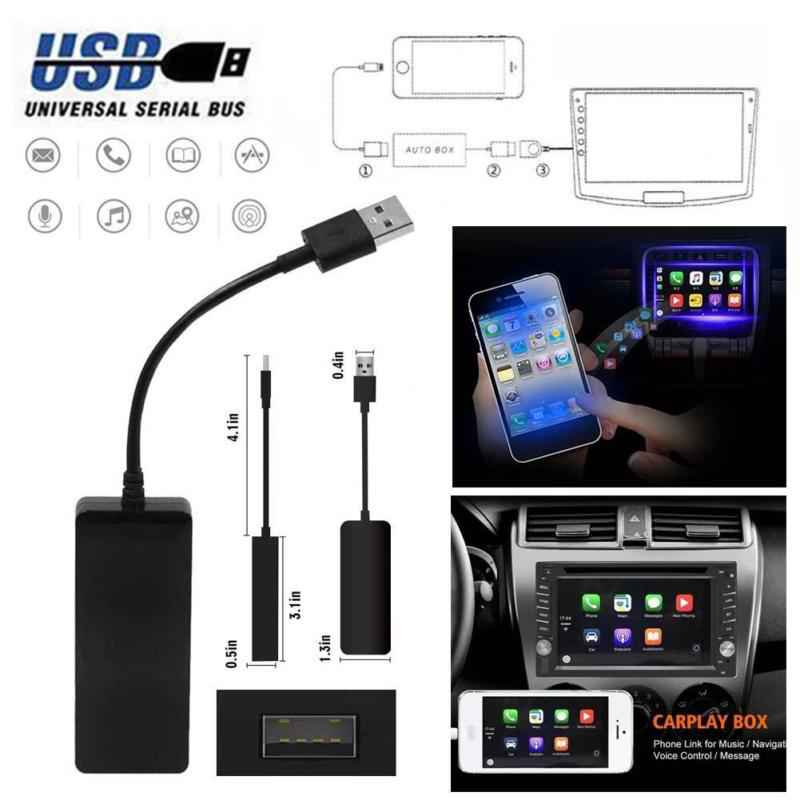 80 * 32 * 13mm Black 12V USB Dongle for Apple iOS CarPlay Android Car Radio Navigation Player Auto Player Car Styling купить в Москве 2019