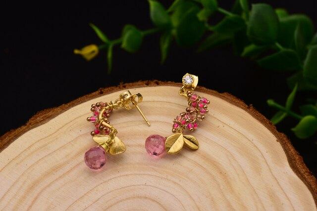 Glseevo естественной капли воды розового цвета с украшением