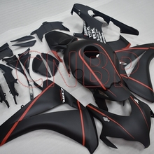 Abs обтекаемый Fireblade 2008-2011 материя черный красный комплекты обтекателей, CBR 1000 RR 2009 обтекатель для Honda Cbr1000 RR 08 09 без краски