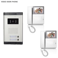 video intercom system 4.3''tft lcd handset screen 2 monitor wired video doorphone for 2 apartment night vision camera