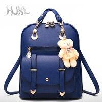 HJKL Female Knapsack Women Fashion Casual Blue Leather Backpack Travel Bags Convenient Schoolbasgs Riverdale Backpack