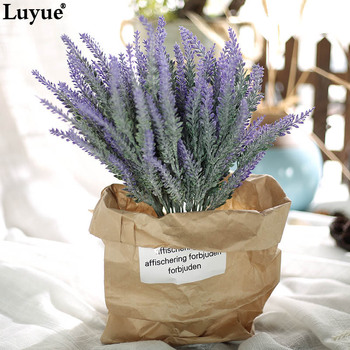 Luyue high quality Artificial Flower Plastic Lavender flowers bouquet Simulation Garden Flower DIY Home Decor Wedding Flower