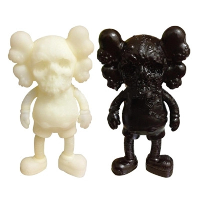 Skull Mouse BFF OriginalFake Medicom Toy KAWS PUSHEAD PVC Action Figure Collection Model Toy G1095 2 colour outer space trophy electroplating kaws bape milo kabinett ver medicom toy pvc action figure collection model toy g690