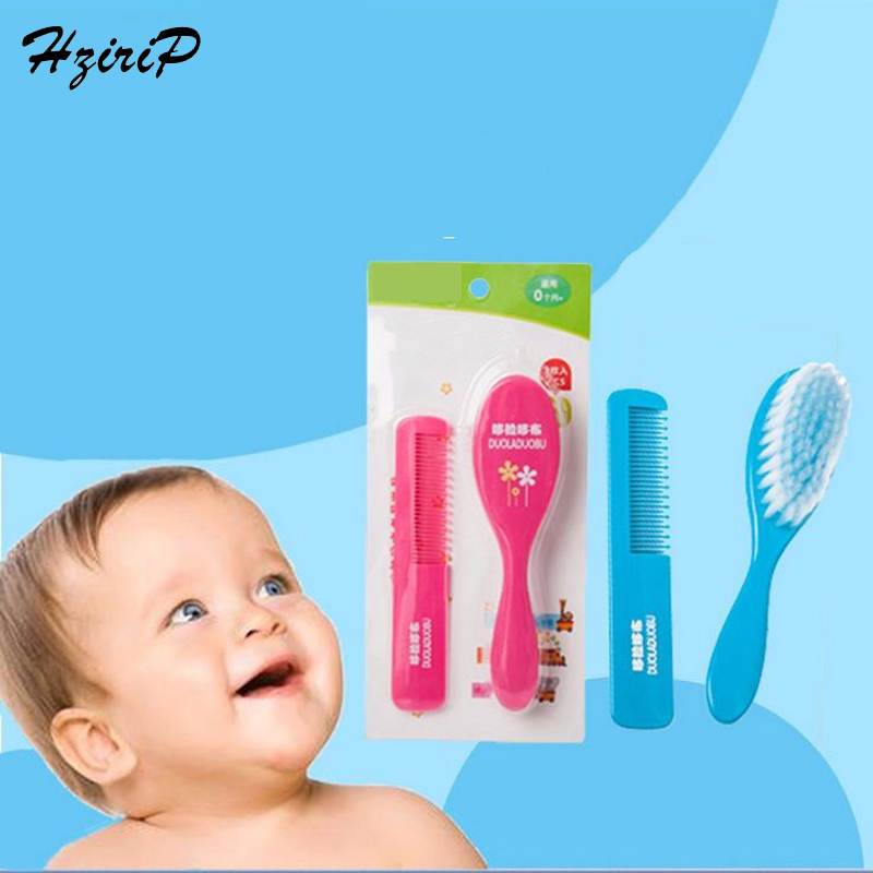 Baby Special Brush Hair + Comb Hair Two Pieces Massage Scalp Unisex Baby Girl Baby Boy Hair Care Brushes Combs Set 2 Colors