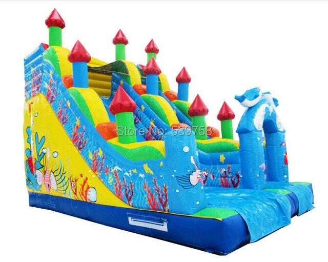 Завод прямого надувной замок слайд, раздувной хвастун, надувные города весело, надувные горки KY-132