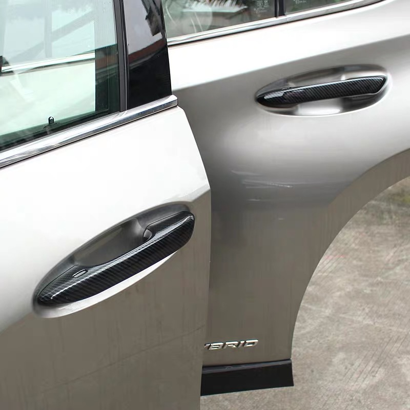 Carbon ABS Door Handle Decorative Cover Trim Accessories 4Pcs Set Sticker For Lexus UX200 250H 260H 2019 2020 in Chromium Styling from Automobiles Motorcycles