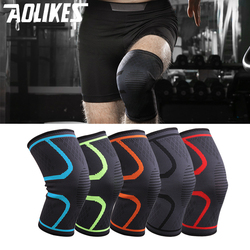 1PCS Fitness Running Cycling Knee Support Sports Braces Elastic Nylon Compression Basketball Knee Pad Sleeve for Volleyball