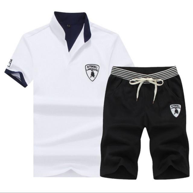 Summer Quick Drying Fitness Sports 2 Piece Set Short Sleeve T Shirt + Shorts