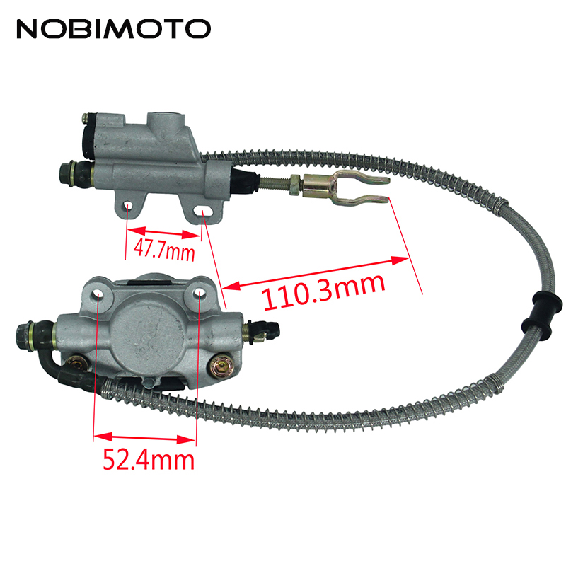 Motorcycle Hydraulic Rear Brake System Assembly Master Cylinder Caliper Fit For 200cc 250cc Dirt Bike Pit Bike ATV Quad DS-131 alfa бра alfa creo 11260