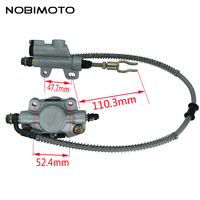 Motorcycle Hydraulic Rear Brake System Assembly Master Cylinder Caliper Fit For 200cc 250cc Dirt Bike Pit Bike ATV Quad DS 131