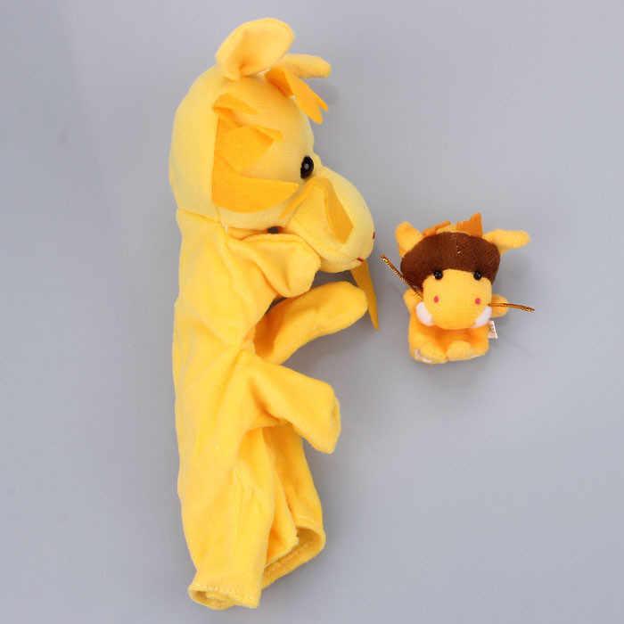 2 Pcs Bonito Dos Desenhos Animados Macio Dragão Animal Fantoche de Dedo Do Bebê Infantil Kid crianças Favor Toy Dolls Plush Toys Oyuncak Bebek Menor Preço #