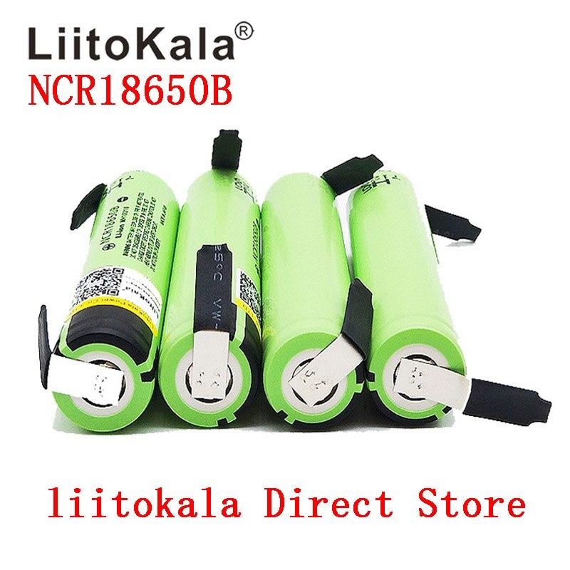 2019 Liitokala 100% New Original NCR18650B 3.7 V 3400 Mah 18650 Lithium Rechargeable Battery DIY Nickel Sheet Batteries