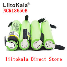 2019 Liitokala 100% New Original NCR18650B 3.7 v 3400 mah 18650 Lithium Rechargeable Battery DIY Nickel Sheet batteries(China)