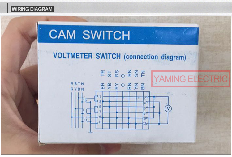 US $3.9 |CA10 Voltmeter Selector Cam switch 3 phase 4 wires 7 position  Position Rotary Cam Switch Wiring Diagram on