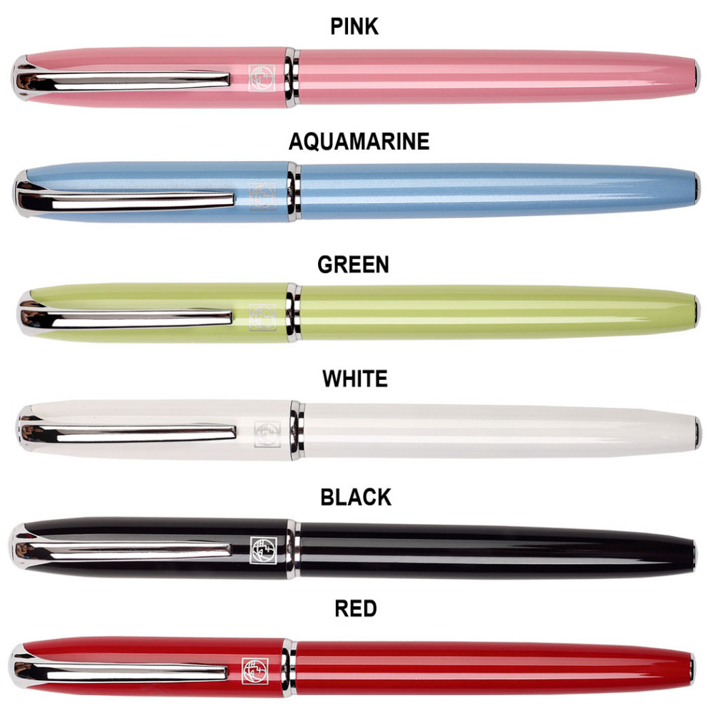 RollerBall pen or Ink Fountain pen  Picasso 916 shcool and office signature pens   Free Shipping gel roller ball pen black or chrome silver to choose baoer 3035 office and school signature pens free shipping