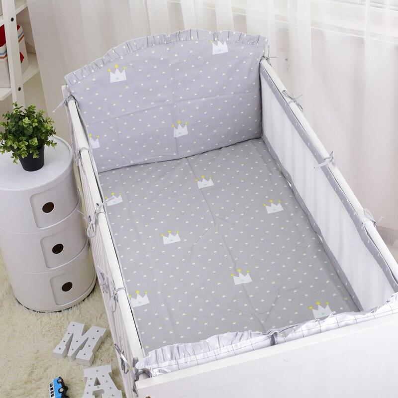 unidsset gris coronas verano juego de cama cuna cama infantil recin nacidos ropa