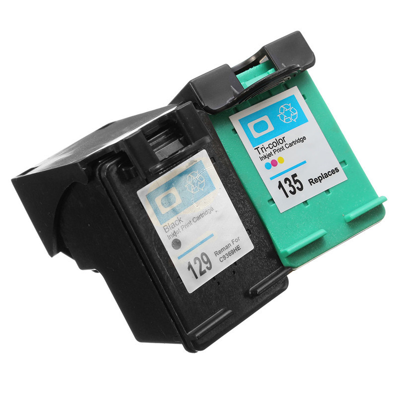 For HP 129 135 Ink Cartridges for HP Deskjet 5943 6943 6983 D4163 2575 D5163 8053