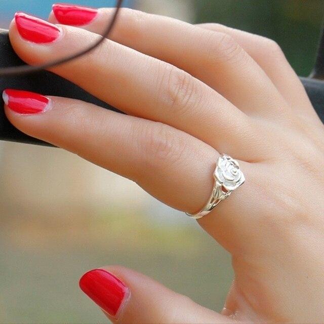 Sterling Silver Rose design Ring  5