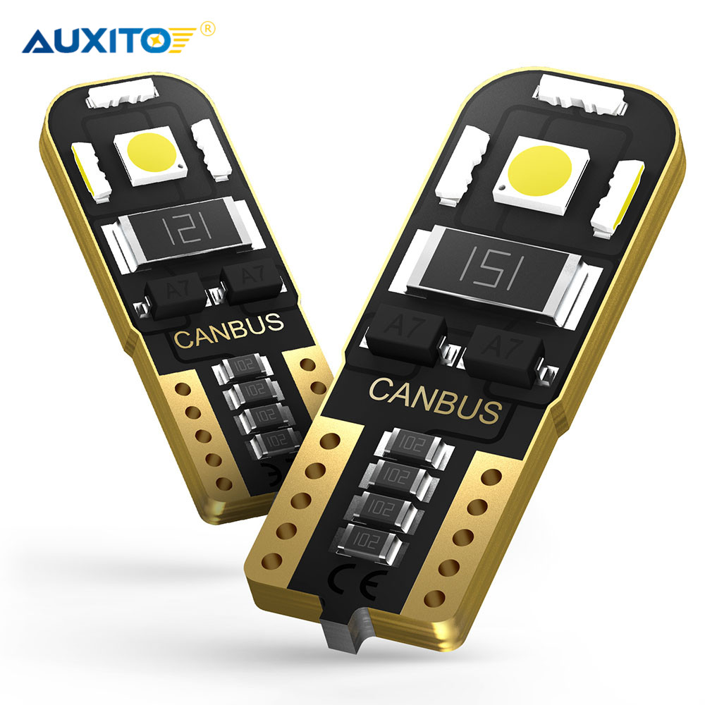 2x W5W T10 LED Canbus Bulb 2825 Car Interior Light 12V For <font><b>Honda</b></font> Civic Accord Crv Fit Jazz City Hrv <font><b>CR</b></font>-<font><b>v</b></font> Spoiler Element Insight image