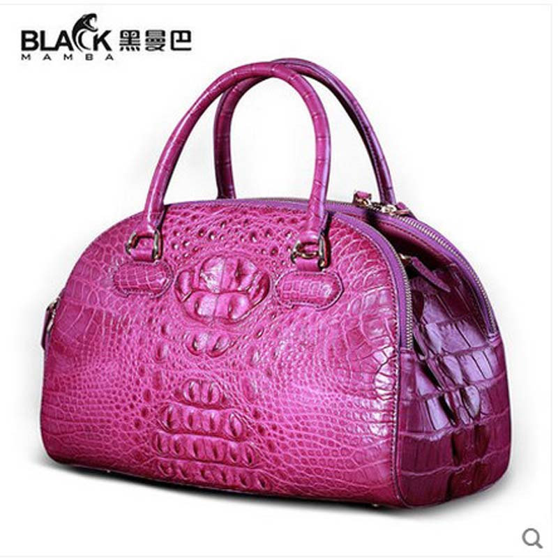 heimanba thai crocodile skin Female bag slanted women handbag hand carry shell bag alligator women bag Europe and America japanese pouch small hand carry green canvas heat preservation lunch box bag for men and women shopping mama bag