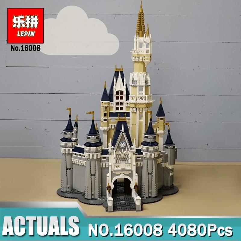Лепин 16008 Золушка Принцесса замок город 4080 шт. Building Block Дети DIY игрушка подарок на день рождения Совместимость Legoinglys 71040