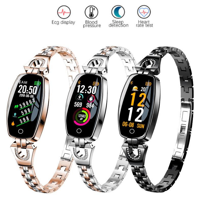 Luxury Smart Watch Women Calorie Sport Watch Blood Pressure Heart Rate Monitor Bluetooth Smartwatch Fashion Ladies Dress Watches
