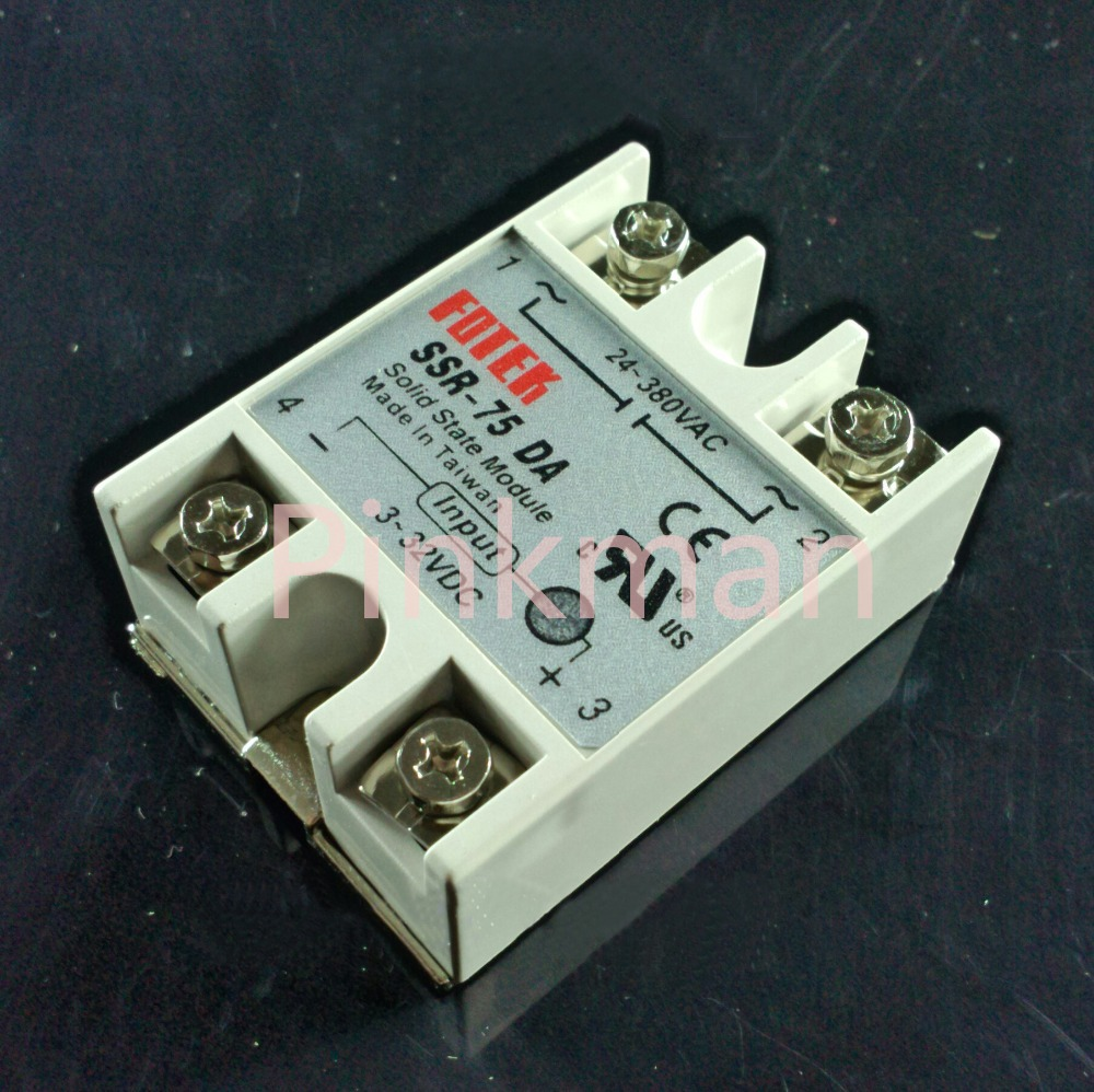 1 pc FOTEK 75DA  Solid State Relay  SSR  Single Phase DC-AC normally open single phase solid state relay ssr mgr 1 d48120 120a control dc ac 24 480v