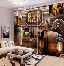 High quality Blackout 3D Curtains Classic Bedroom Curtains Fashion Retro Bar , Cafe , Hotel , Home Window Decoration Curtain