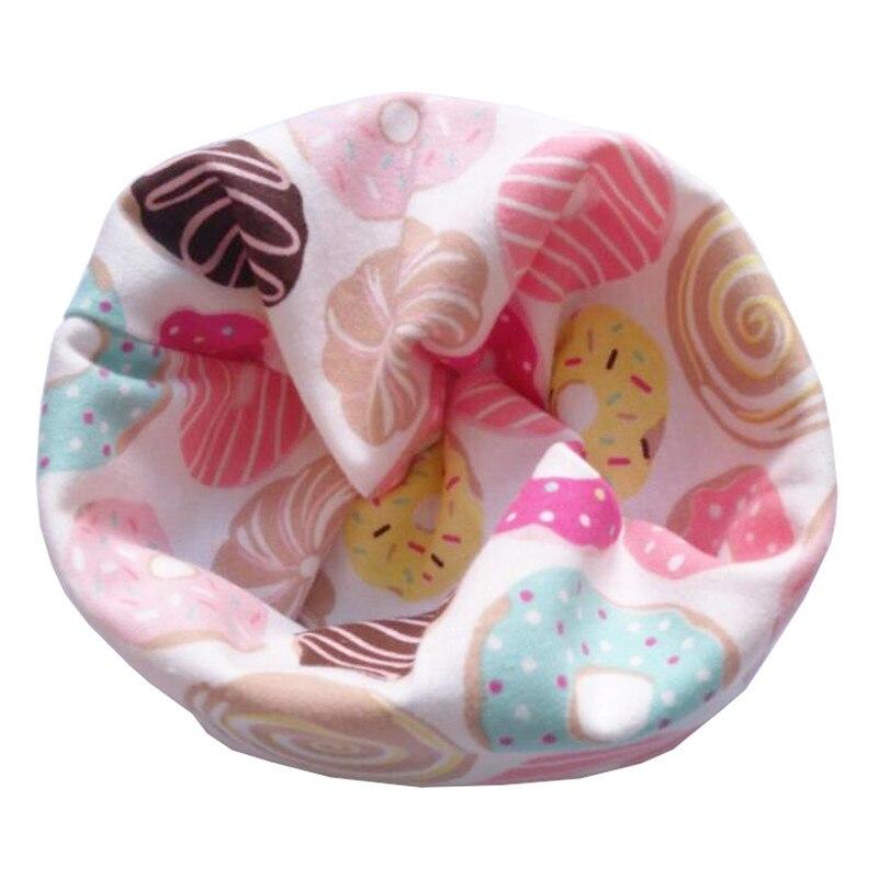 Новинка; Модный хлопковый шарф для маленьких девочек; осенне-зимний шарф для маленьких мальчиков; Детский шарф с круглым вырезом; Детские шарфы; волшебный шейный платок - Цвет: Donuts