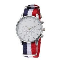 2017 NEW  Luxury Fashion Canvas Mens Analog Watch Wrist Watches erkek kol saat relogioi wholesale