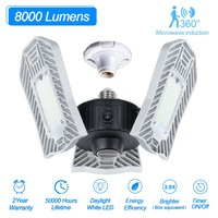 80W 60W E27 Bulb Led Deformable Lamp Radar Indoor Light LED SMD 2835 Studio Garage Industrial Warehouse Mining Lamp