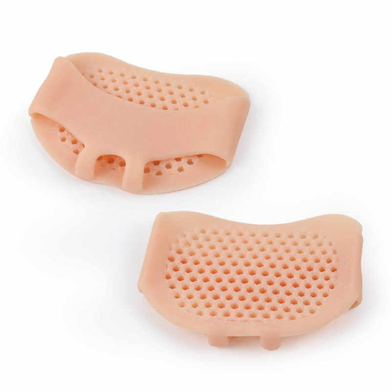 1 Del Gel Del Silicone paio Solette Pads Cuscini Avampiede Dolore Supporto Anteriore Piedi Cura Scarpe Tacco Antiscivolo Pad Lavabile Non -antiscivolo
