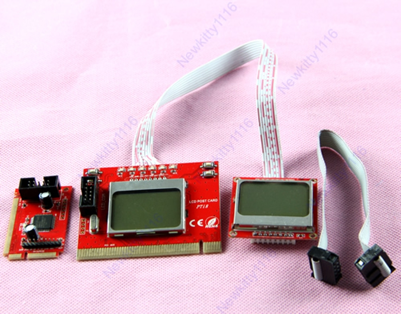 PC Dual LCD Mini PCI-E PCI LPC Diagnostic Analyzer Post Test Debug Cards mini pci e pci lpc diagnostic post test card for laptop 2 digit codes