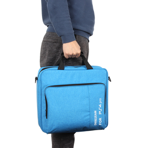 Image 5 - Handbag Multifunction Bag for PS4/PS4 PRO slim mi Original size Protect Shoulder Carry Bag Canvas Case For PlayStation 4 Consol