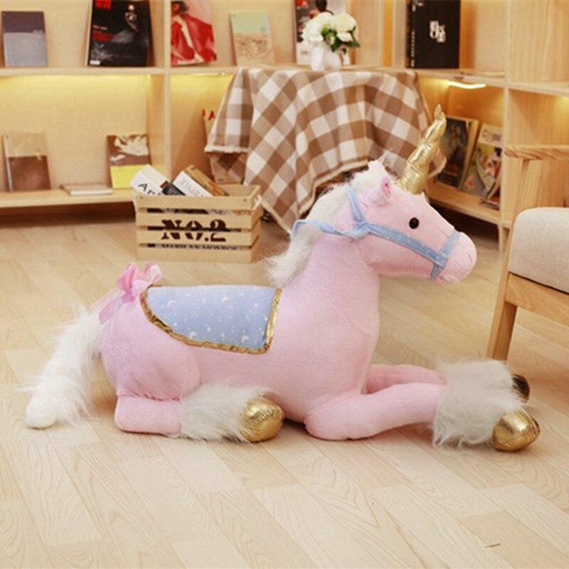 AAA 100 cm énorme mignon licorne cheval en peluche jouets colorés en peluche poupée pour enfants enfants cadeau d'anniversaire créatif pour les filles
