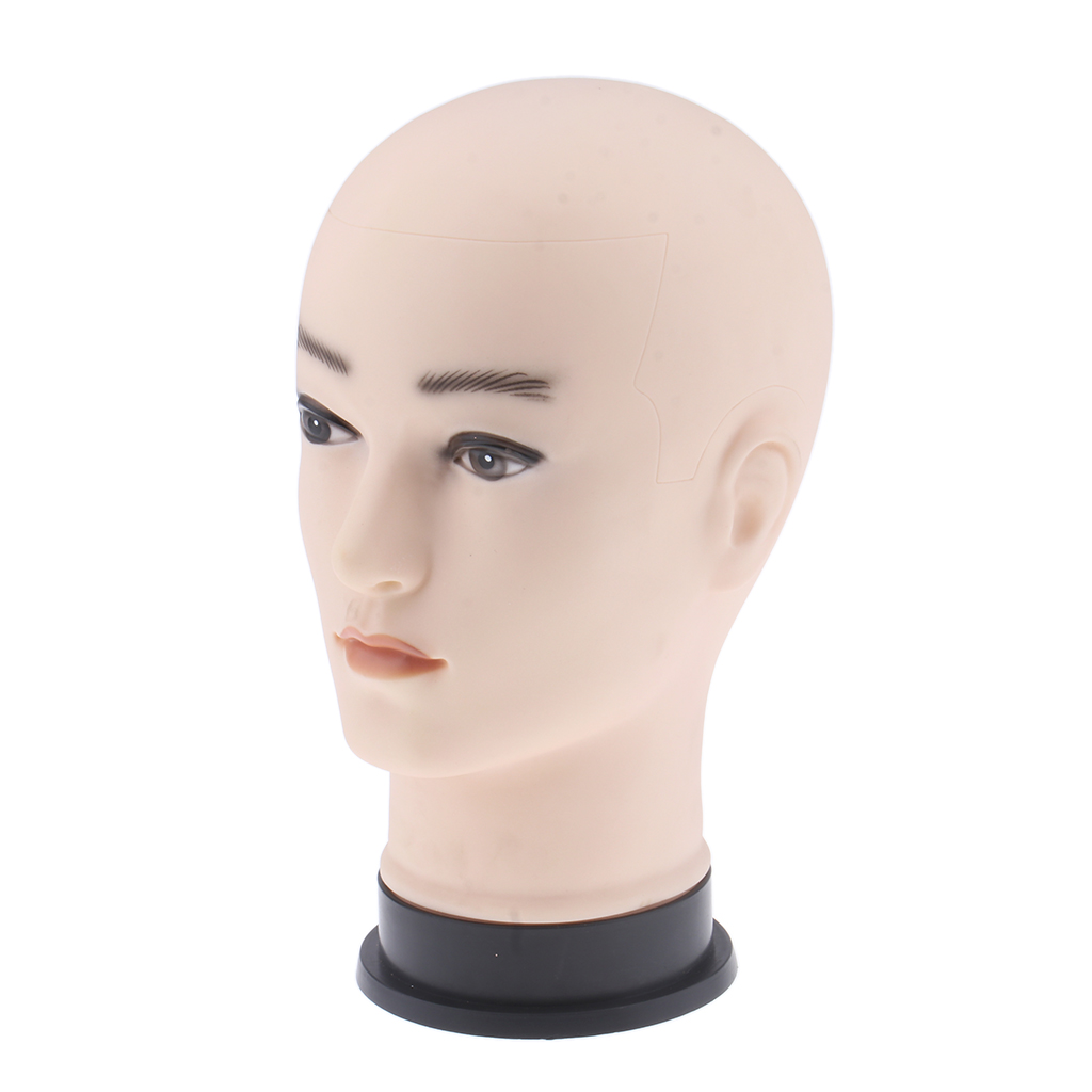 Massage Training Male Mannequin Round Head Practice Model Eyelash Extensions