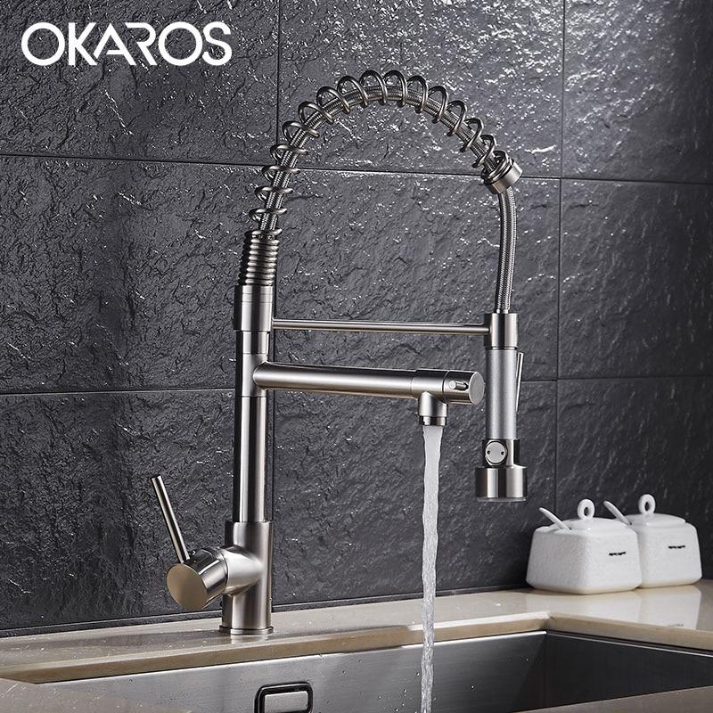 OKAROS Chef Kitchen Faucet Sink Mixer Tap Black
